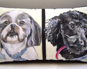 Custom Order Pet Portrait Pillow - Choose Your Size - Favorite Pet Memorial/Gift - Customize Your PET Portrait Pillow