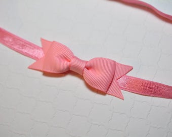 Pink Bow Headband / Pink Baby Headband / Easter Headband / Baby Shower Gift / Aqua Baby Headband / Baby Girls Hair Accesories/ Pink Headband