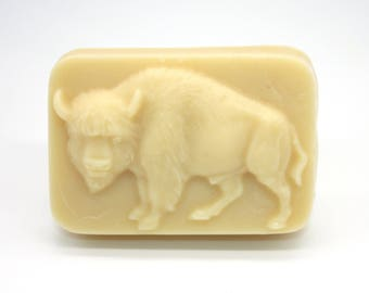 Buffalo/Bison Lotion Bar - solid lotion, all natural, father's day, stocking stuffer, party favor, north american animals, lotion for men