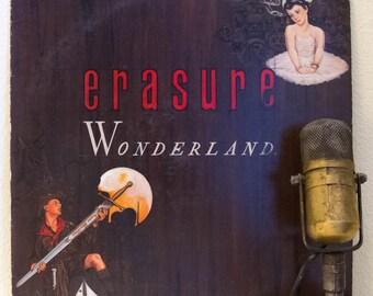 ON SALE Vinyl Record Album Erasure 1980s Debut Synthpop Music Lp, 'Wonderland'(Original 1986 Sire Records)