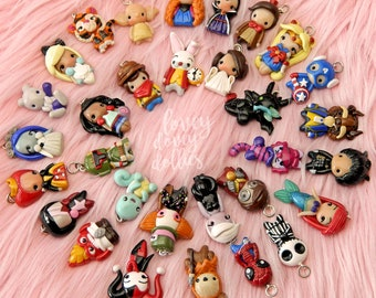 Custom character charm ANY character animal or person, cell phone charm, bracelet, custom necklace, dust plug, custom polymer clay charms
