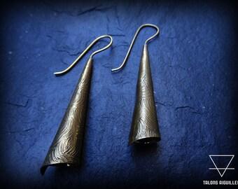 Boucles d 'oreille pendantes en laiton # brass pendants earrings