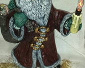 Ceramic Santa large candle light
