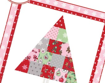 Oh Christmas Tree Pattern by She Quilts A Lot - Christmas Mini Quilt Pattern - Christmas Pillow Pattern - Uses Mini Charm Pack