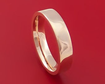 14K Rose Gold Classic Style Wedding Band Custom Made