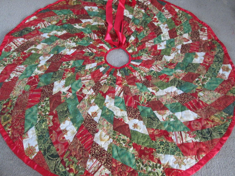 Modern Christmas Tree Skirt Quilted Tree Skirt By Bellazahn