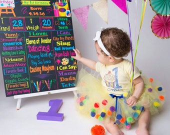 Cupcake Birthday Tutu Set , Yellow Tutu Set , Cupcake Birthday Outfit , Yellow Cupcake Pom Pom Tutu , Cupcake Tee , Birthday Cupcake Tutu