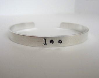 Leo Bracelet Aluminum Cuff Zodiac Jewelry Leo Birthday Gift July August Birthday