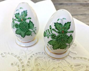 Fine China Salt & Pepper Shaker Set Herend Porcelain Salt and Pepper Set