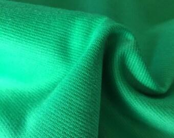stretchy green fabric 2 plus yards