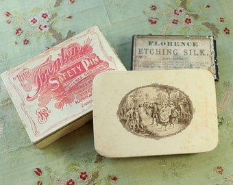 Antique lot fabulous boxes display candy French sewing small boudoir english  victorian