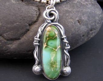 Open Range Royston Turquoise Sterling Pendant
