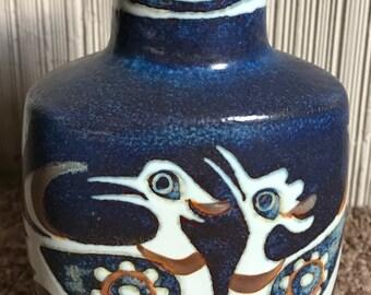 Vintage 60s Royal Copenhagen Nils Thorsson Bird Vase Fajence Retro Pottery Denmark Sixties Baca Vase Aluminia
