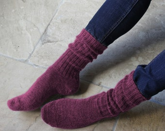 Soft Style Mohair Socks made without using any Elastic
