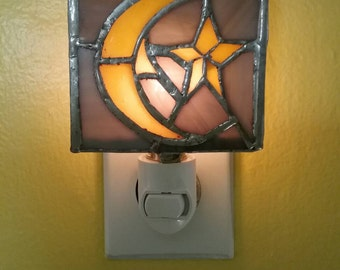 Hand-made Stained Glass Phish Farm House Nightlight