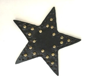 Leather Star Jacket/Bag Patch