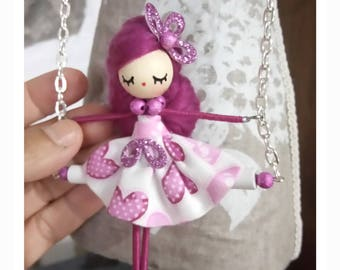 wood and wire necklace/doll necklace