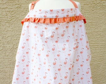 Flamingo  Nursing Covers for the Breast Feeding Mom - Keep Modest and Covered  -by Mommy Moxie on Etsy