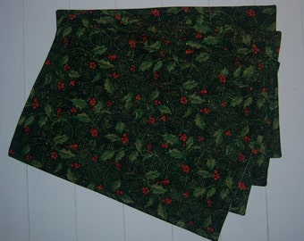 Set of Four Christmas Quilted Placemats