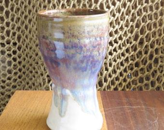 Pottery Beer Mug Tumbler in Caramel Brown Glaze