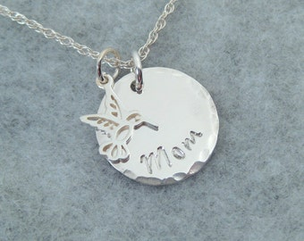 In Memory of Mom - Memorial Necklace - Memorial Jewelry - Memory Jewelry - Memorial Gift - In Memory of Mother - Angel Wing Necklace