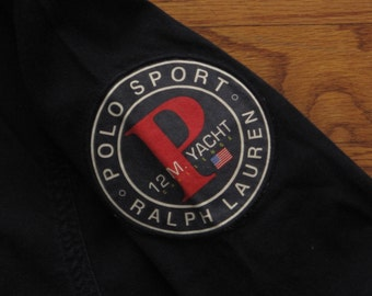 vintage Polo Sport 12m. Yacht dungaree shirt