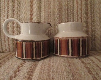 Midwinter Stonehenge Earth Creamer and Sugar Pot