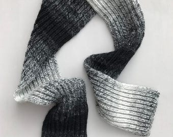 COLLECTION: HAYES Hand Knit Ombré Wool Blend Scarf
