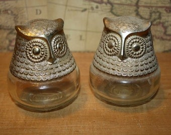 Avon Owl Cologne Bottles - set of 2 - item #2283