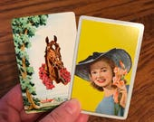 Off to the Kentucky Derby Vintage Playing Card set of 4