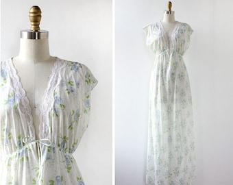 Prairie Vintage Slip Dress • Floral Lingerie • Prairie Dress • Empire Waist Dress • Floral Maxi Dress • Empire Waist Maxi Dress | D1186