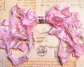BLUSH PINK Crinkled Cottage Ribbon