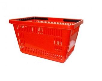 Jumbo Red Shopping Basket