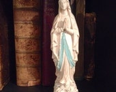French, Plaster Mary Statuette.