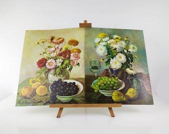 Henk Bos Still Life Prints / Studies in Oil / Vintage lithographs