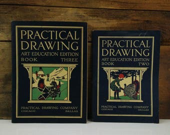1925 Practical Drawing Art Education Booklets, Set of 2