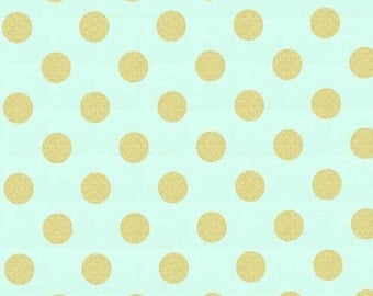 Christmas Sale Quarter Dot Pearlized in Mist by Michael Miller Fabrics - 1 yard