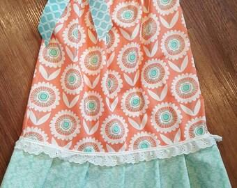 Pillowcase dress sz. 3-4 floral