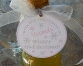 "24 Winter ONEderland Custom 2"" Birthday Favor Tags - For Mason Jar Favors - Lollipops - Party Favors - 1st Birthday Tags and Stickers"