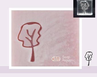 SoapRepublic Small Tree Acrylic Soap Stamp