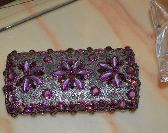 Vintage Coblentz Swarovsky Crystal Clutch Evening Bag Made In Italy  -  New