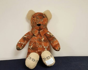 Personalized Memory bear with collar
