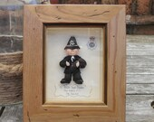 PERSONALISED POLICE GIFT, Framed Polymer Clay Characters, Retirement, Promotion, Birthdays