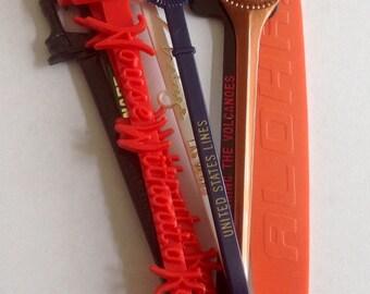 Vintage Set of Fun Swizzle Stir Sticks