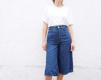 Jeans Culottes Shorts High Waist sz. 25