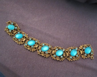 Art Nouveau bracelet, art nouveau jewelry, vintage bracelet, vintage jewelry, moonstone jewelry, moonstone bracelet, chunky bracelet, aqua
