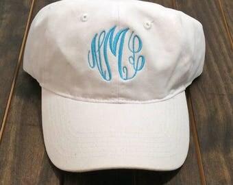 Monogrammed Baseball Hat - Monogrammed Hat - Monogram Hat - Monogrammed Cap