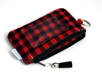 Zip ID Wallet, Keychain Wallet, Coworker Gift for Her, Ready to Ship, Zookaboo