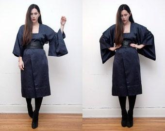 Vintage Kimono Gothic Hippie Ethnic Kaftan Kimono  Boho Maxi Dress Duster Jacket