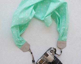 scarf camera strap - mint x BCSCS064